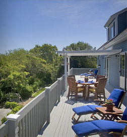 Enjoy the 75 foot sun deck at the High Pointe Inn Bed and Breakfast on Cape Cod.